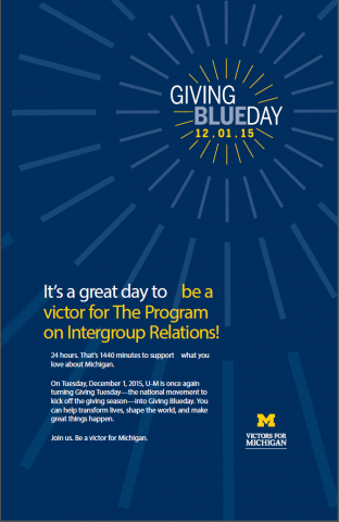 IGR giving blueday poster