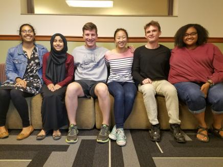 The 2017 Programming Team. From left to right: Laxmi, Shaima, Max, Qiu, Jack, and LaSabra.