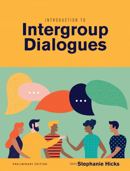 Cover image of preliminary IGR course textbook Introduction to Intergroup Dialogues