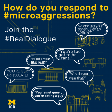 #RealDialogue microaggressions sticker with speech bubbles